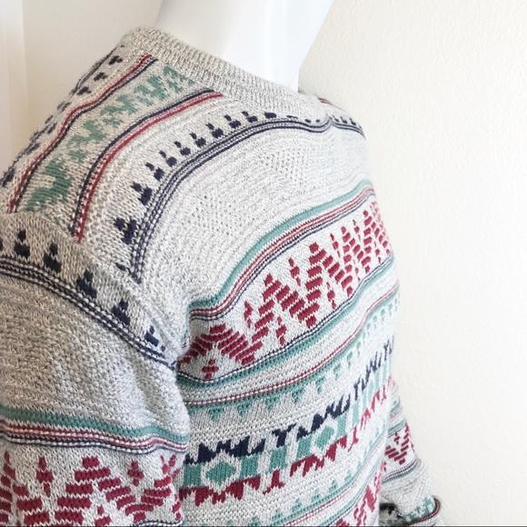 Jantzen Other - JANTZEN Crew Patterned Thermal Lightweight Sweater